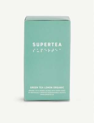 SUPERTEA Organic lemon green tea box of 20