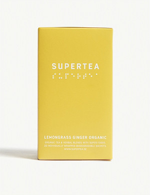 SUPERTEA Lemongrass and ginger organic tea box of 20