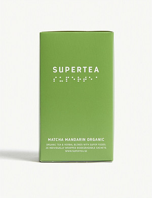 SUPERTEA Matcha mandarin organic tea box of 20