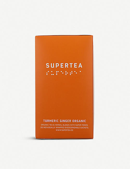 SUPERTEA: Tumeric and Ginger organic tea 30g