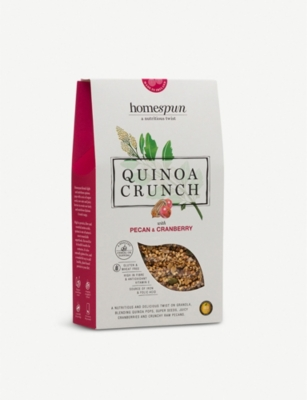 HOMESPUN FOODS Pecan and cranberry quinoa crunch 275g