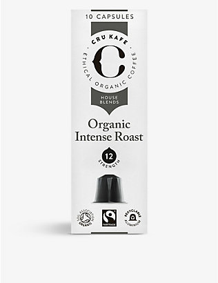 CRU KAFE: Organic intense coffee capsules pack of 10