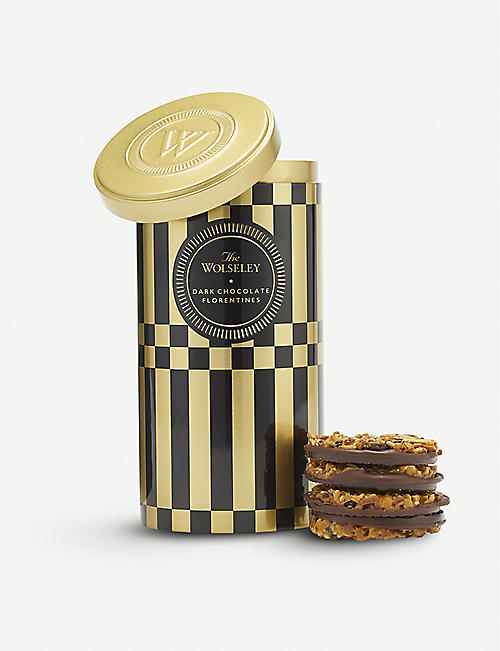 THE WOLSELEY Dark chocolate florentines 170g