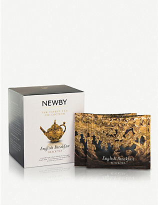 NEWBY TEAS UK: English Breakfast pyramid tea bags box of 15