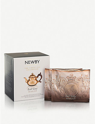 NEWBY TEAS UK: Earl Grey pyramid tea bags box of 15
