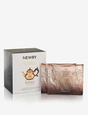 NEWBY TEAS UK Earl Grey pyramid tea bags box of 15
