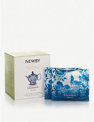 NEWBY TEAS UK: Chamomile pyramid tea bags box of 15 30g