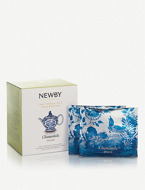 NEWBY TEAS UK Chamomile pyramid tea bags box of 15