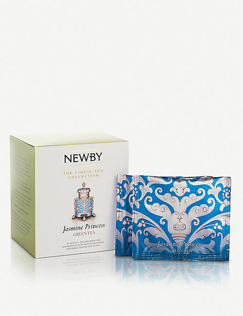 NEWBY TEAS UK: Jasmine Princess pyramid green tea bags box of 15 37.5g