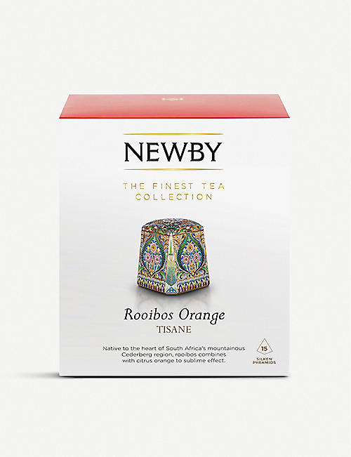 NEWBY TEAS UK Rooibos Orange pyramid tea bags box of 15