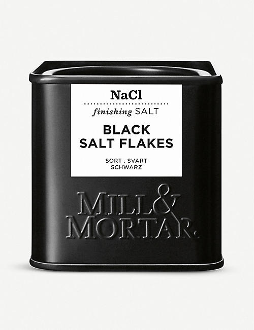 MILL & MORTAR: Black salt flakes 80g