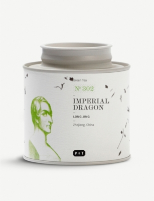 PAPER AND TEA Imperial Dragon green tea caddy 80g