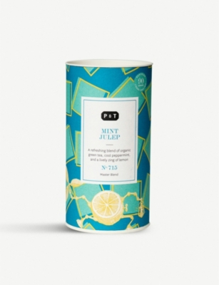 PAPER AND TEA Mint Julep green tea blend caddy 90g