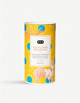 PAPER AND TEA: Hunky Dory Breakfast tea blend caddy 100g