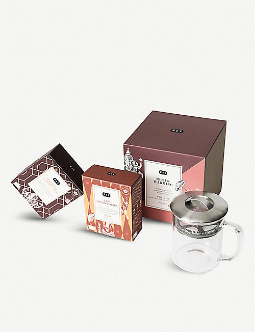 纸 和 TEA Rich & amp; amp; 变 暖 TEA  礼品套装