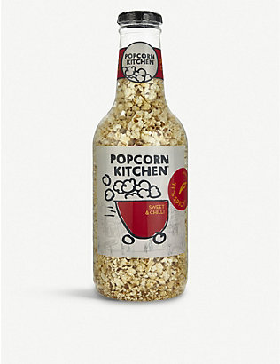 POPCORN KITCHEN: Giant money box gourmet Sweet & Chilli popcorn bottle 550g