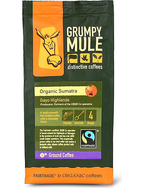 GRUMPY MULE: Organic Sumatra Gayo Highlands ground coffee 227g