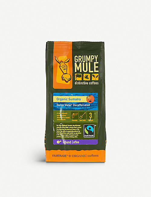GRUMPY MULE: Organic Sumatra decaffeinated coffee
