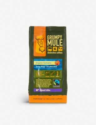 GRUMPY MULE Organic Sumatra decaffeinated coffee