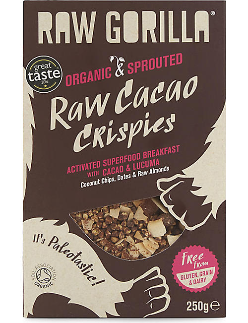 SNACKS Raw gorilla cacao crispies 250g