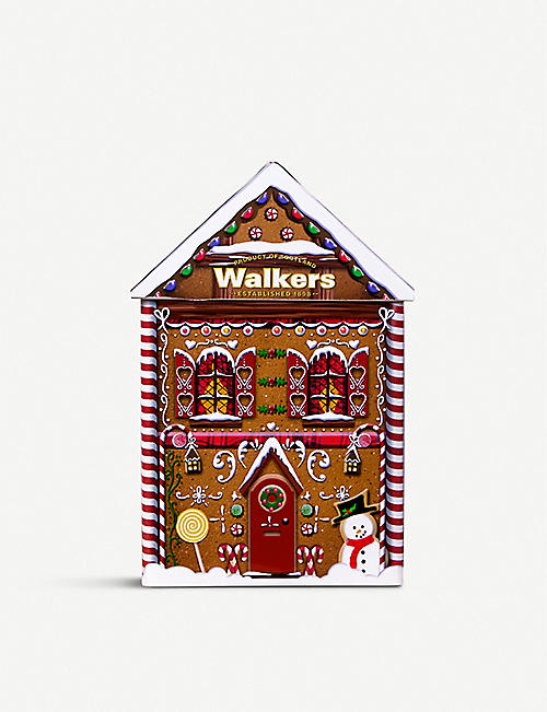 WALKERS Gingerbread house shortbread biscuits 200g