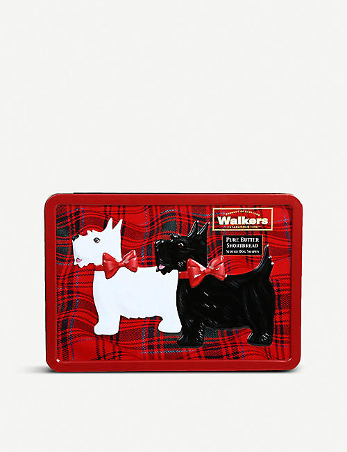 WALKERS: Scotty dog shortbread tin 200g