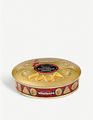 WALKERS: Miniature Pure Butter Shortbread Shapes Tin 175g