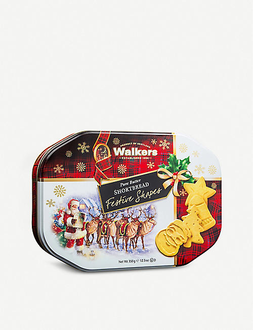 WALKERS Festive shortbread tin 350g