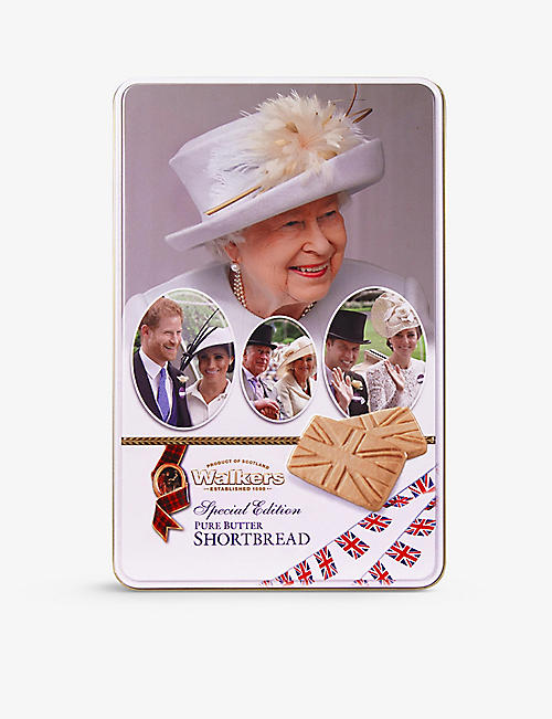 WALKERS: Royal Family pure butter shortbread tin 250g