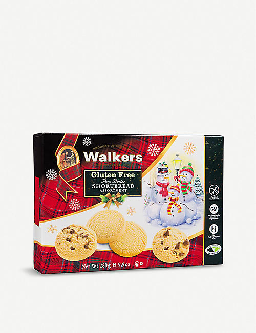 WALKERS: Gluten-Free Pure Butter Shortbread assortment 280g
