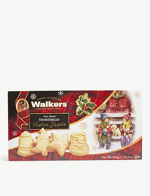 WALKERS Festive Shapes shortbread carton 350g