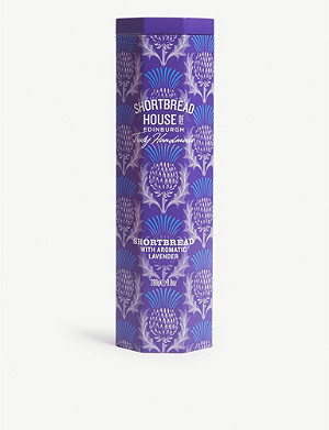 SHORTBREAD HOUSE OF EDINBURGH Aromatic Lavender shortbread biscuit tin 280g
