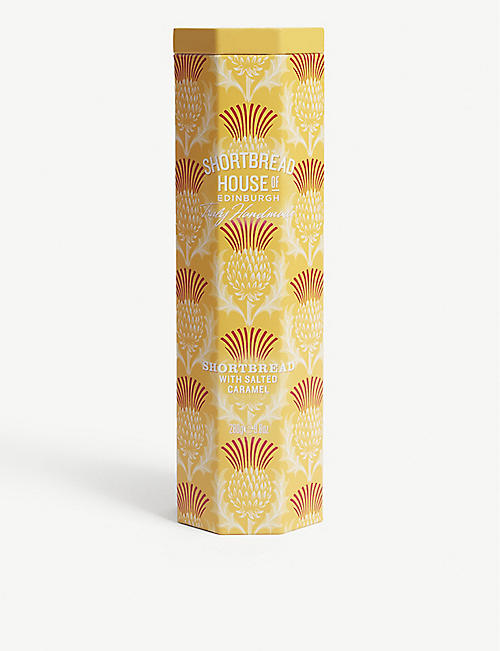 SHORTBREAD HOUSE OF EDINBURGH: Salted Caramel shortbread biscuit tin 280g
