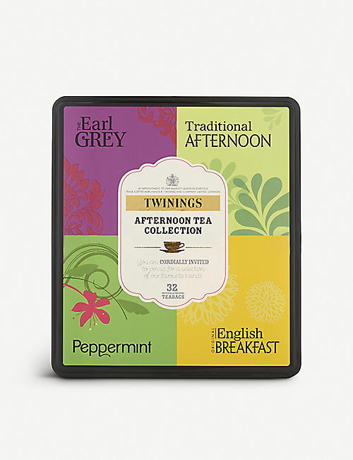 TWININGS: Afternoon Tea collection box of 32 teabags