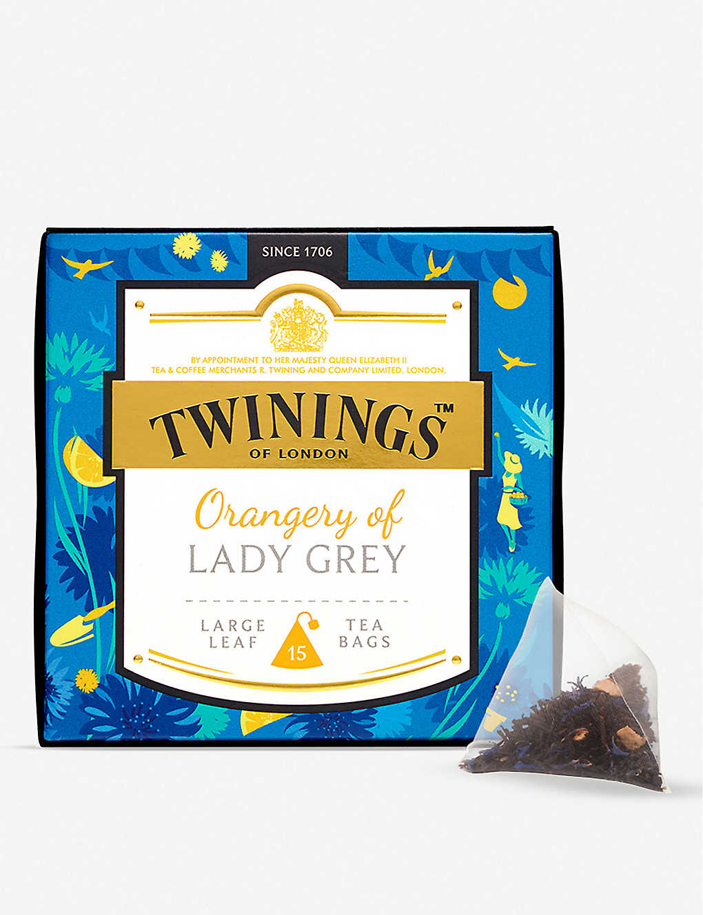 TWININGS: Discovery Collection Orangery of Lady Grey pyramid tea bags 37.5g