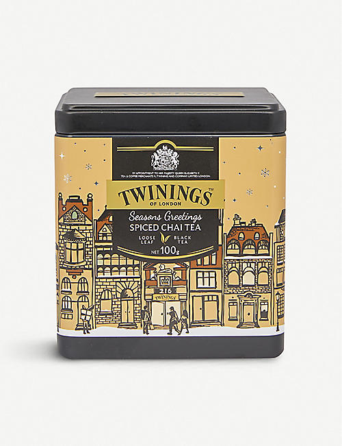 TWININGS: Seasons Greeting spice chai tea tin 100g