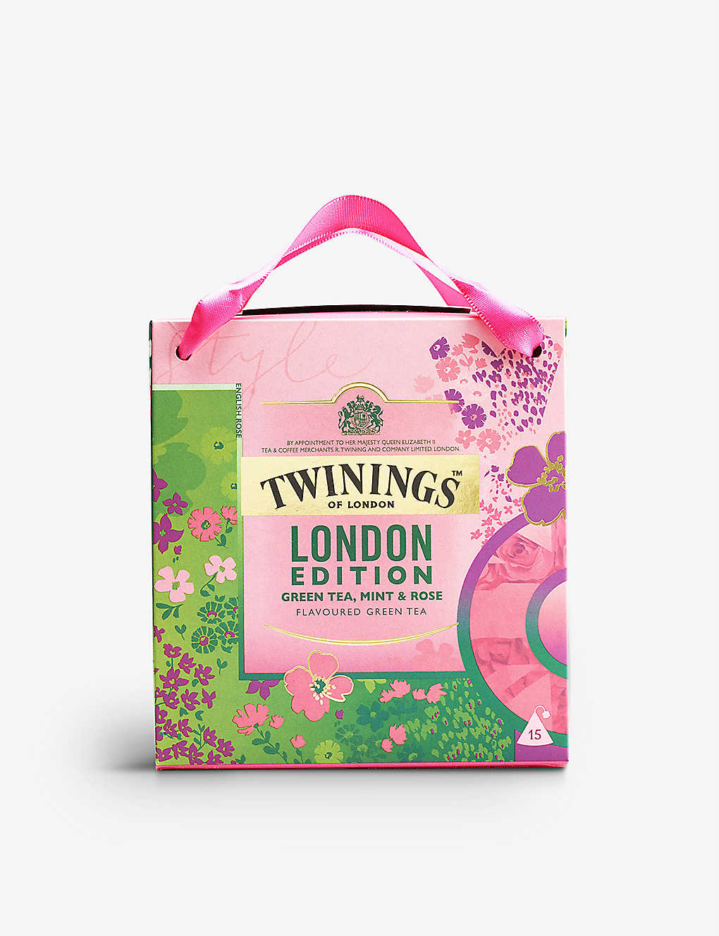 TWININGS: London Edition green tea, mint and rose tea bags 37.5g