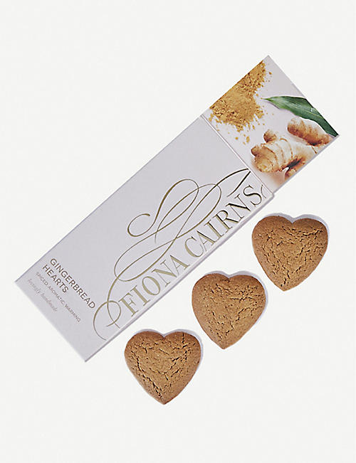 FIONA CAIRNS Heart-shaped gingerbread biscuits 130g
