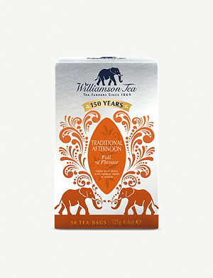 WILLIAMSON TEA Traditional afternoon tea bags box of 50 125g