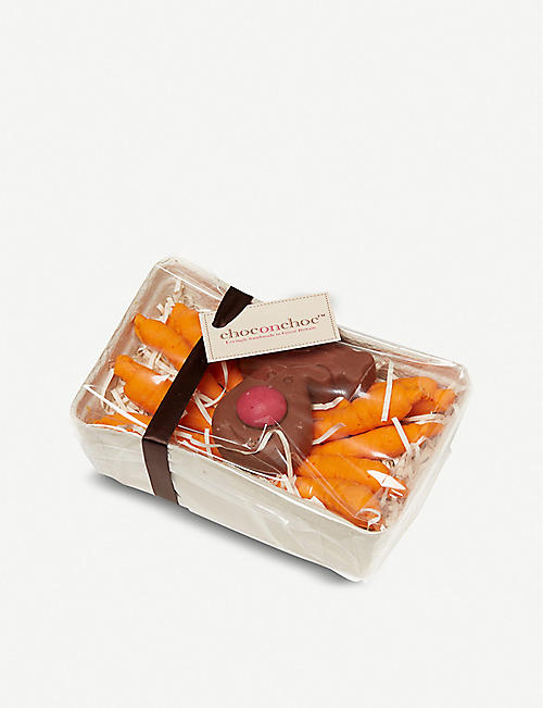 CHOC ON CHOC Chocolate carrots and reindeer selection box