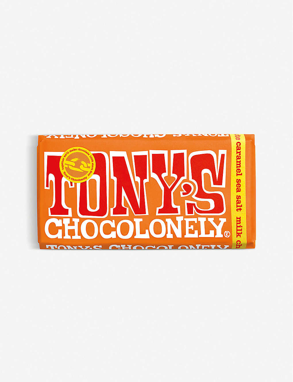 TONY'S: Salted caramel milk chocolate bar 180g