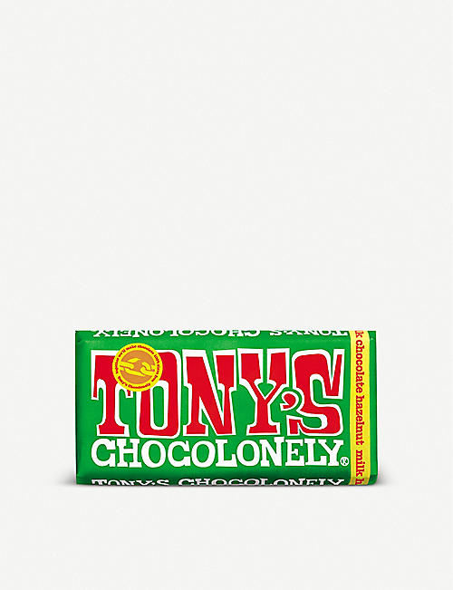 TONY'S: Hazelnut milk chocolate bar 180g
