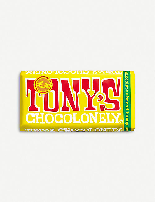 TONY'S: Almond Honey Nougat milk chocolate bar 180g