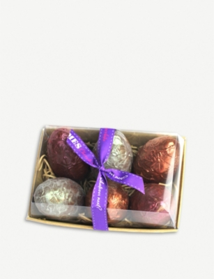 JAMES CHOCOLATE Assorted chocolate dragon eggs box of six