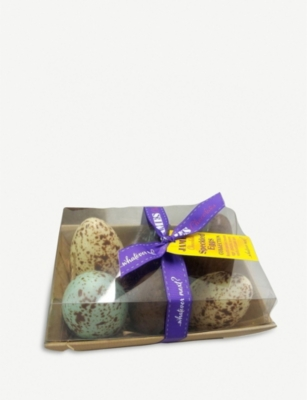 JAMES CHOCOLATE Assorted chocolate speckled eggs 360g