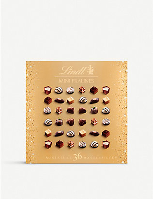 LINDT: Mini Pralines Miniature Master Pieces chocolate selection box of 36