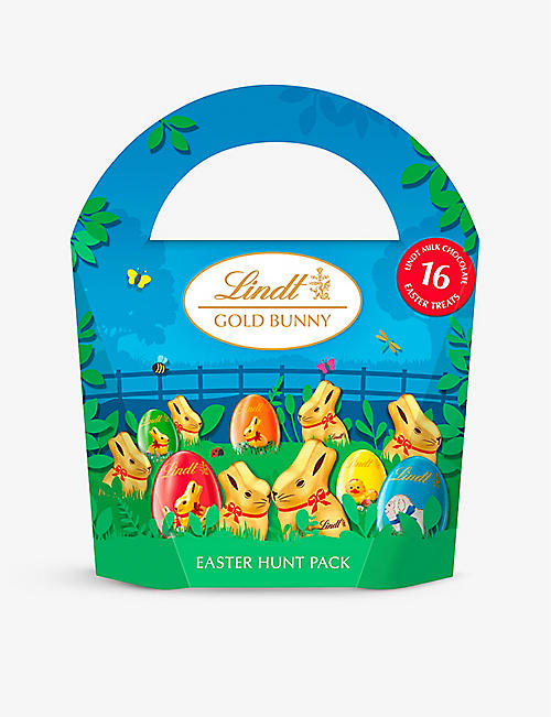 LINDT: Milk chocolate bunny and Easter egg hunt pack 160g