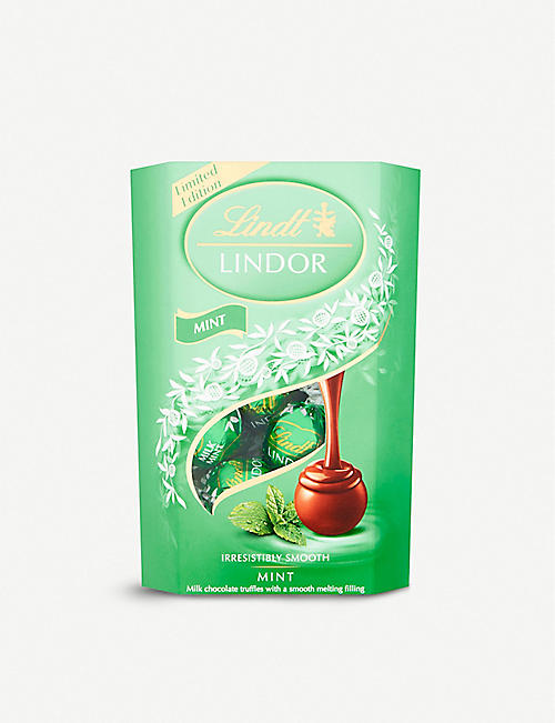 LINDT Lindor mint milk chocolate truffles 200g