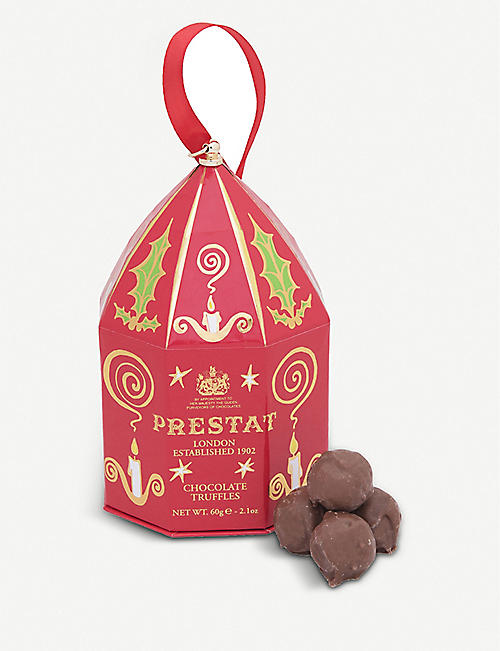 PRESTAT Earl Grey milk chocolate truffles bauble 60g