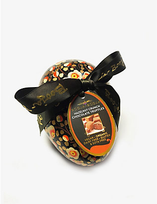 BOOJA BOOJA: Hazelnut crunch chocolate truffles Easter egg 138g
